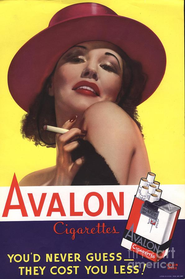 Avalon 1930s Usa Glamour Cigarettes Drawing