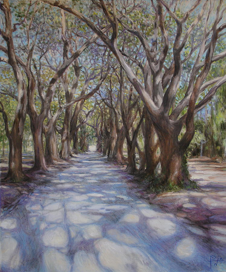 Avenue Of The Oaks Painting
