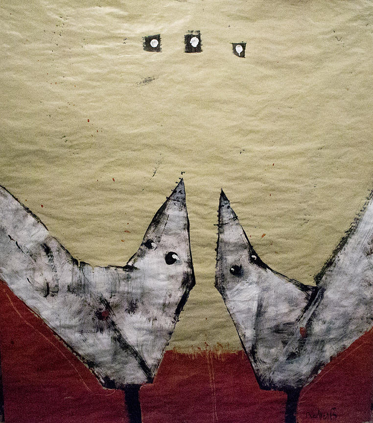 Birds Painting - Aves Et Stellas by Mark M  Mellon