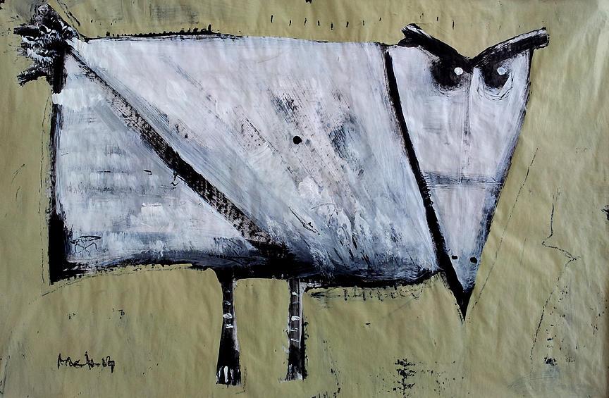Bird Painting - Avis No 2 by Mark M  Mellon