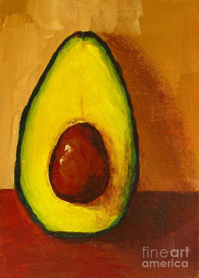 Avocado Palta 7 - Modern Art Painting by Patricia Awapara