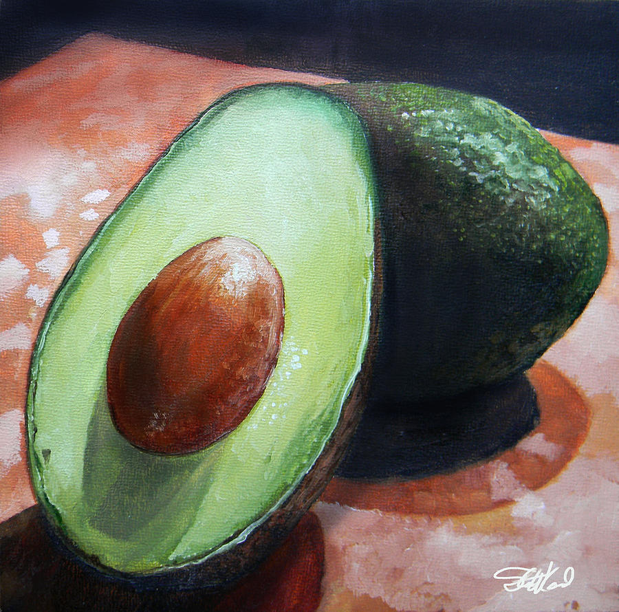 Avocados Painting by Steve Goad