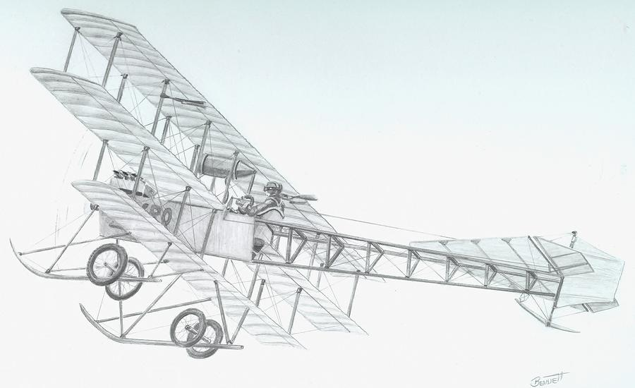 Avro Triplane Drawing