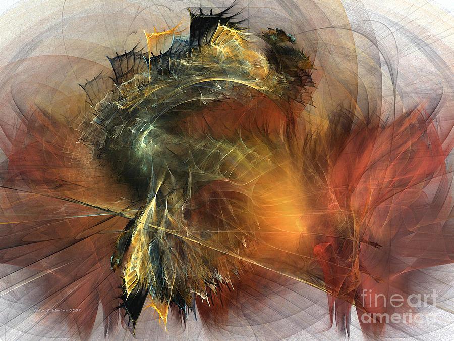 Awakening-abstract Art Digital Art