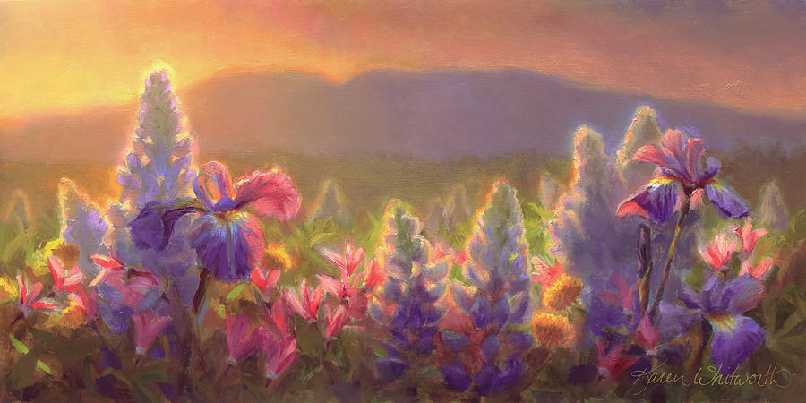 Spring Painting - Awakening - Mt Susitna Spring - Sleeping Lady by ...
