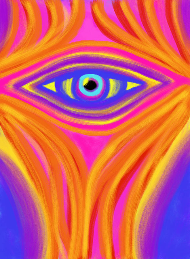 Awakening The Desert Eye Painting