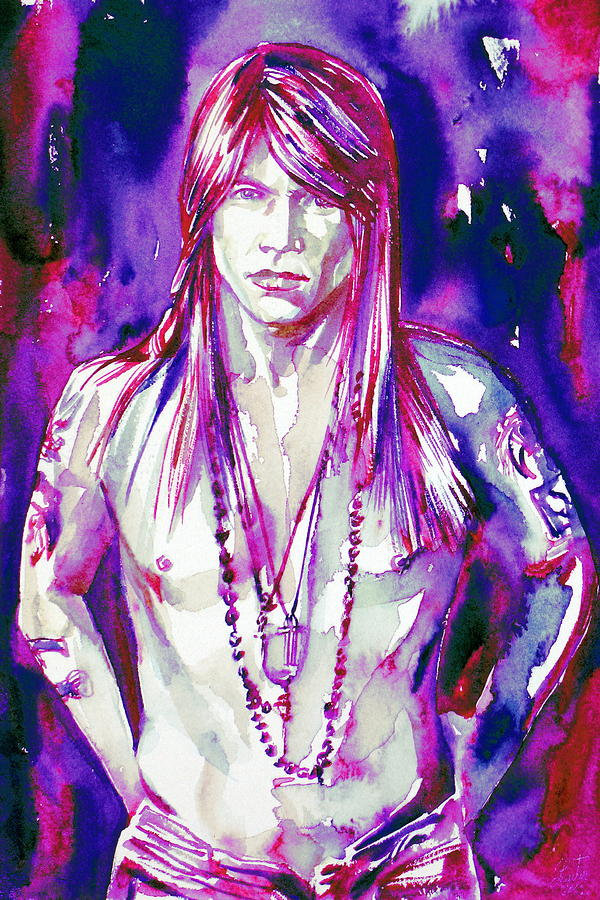 Axl Rose Portrait.3 Painting  - Axl Rose Portrait.3 Fine Art Print