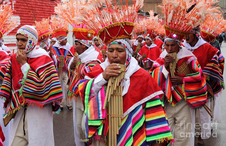 Peru Photograph - Ayarachis Musicians by James Brunker