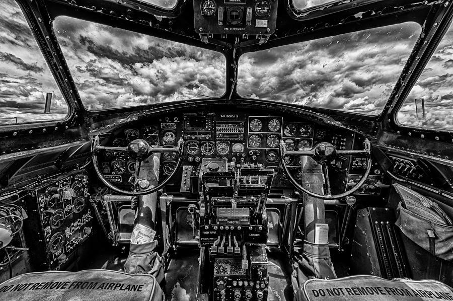 B-17 Cockpit Photograph  B17 Cockpit