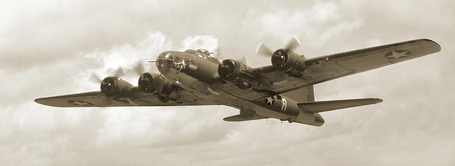 Warbirds Photograph - B-17 Flying Fortress by Mike McGlothlen