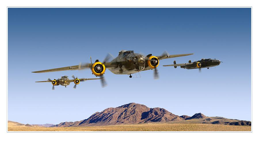 B-25 Mitchell Bomber Photograph