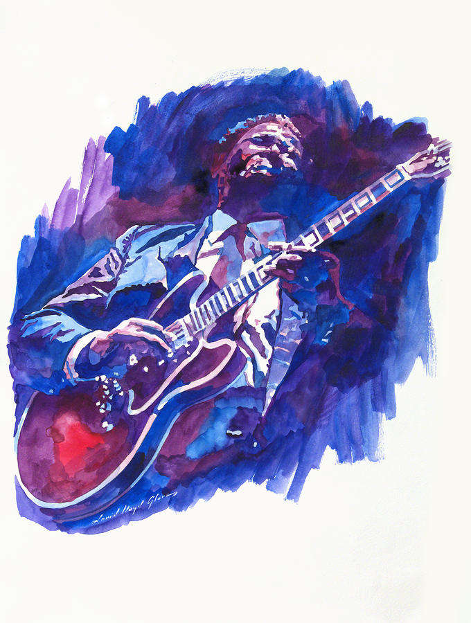 B. B. King Blue Painting  - B. B. King Blue Fine Art Print