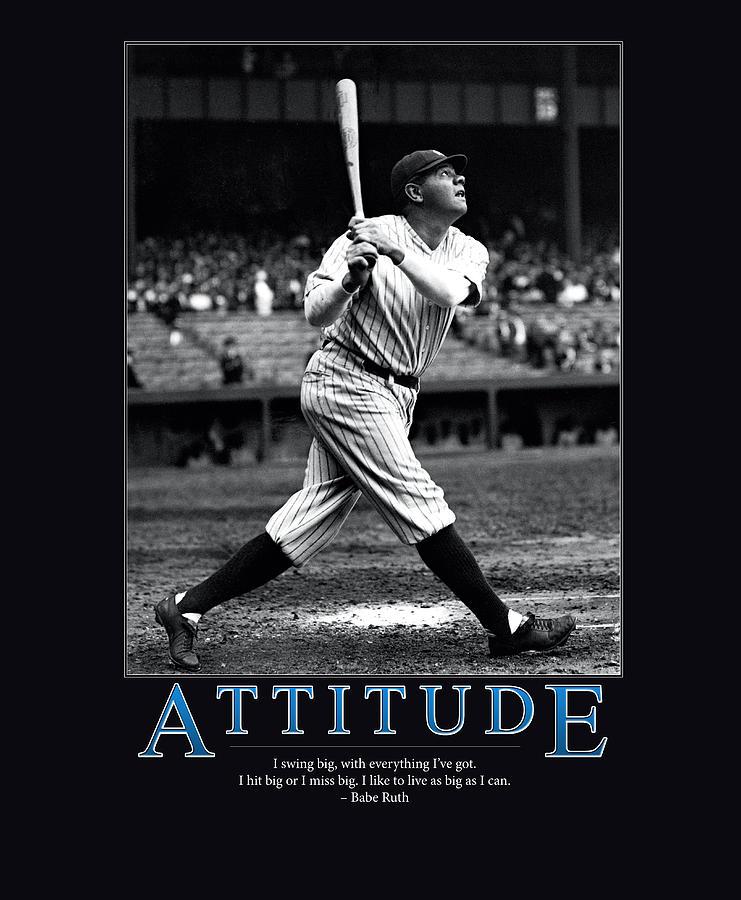 Babe Ruth Attitude Photograph
