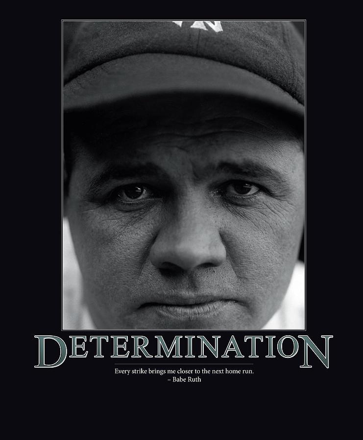 Babe Ruth Determination Photograph