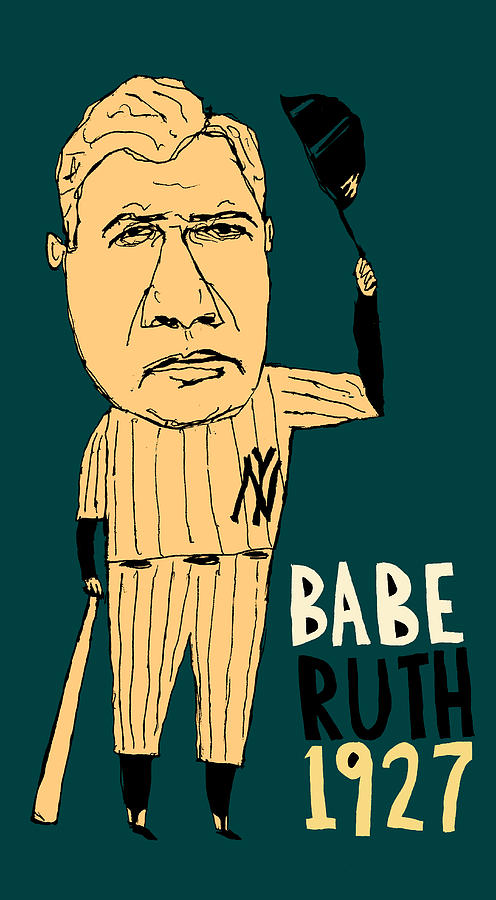 Babe Ruth New York Yankees Painting  - Babe Ruth New York Yankees Fine Art Print