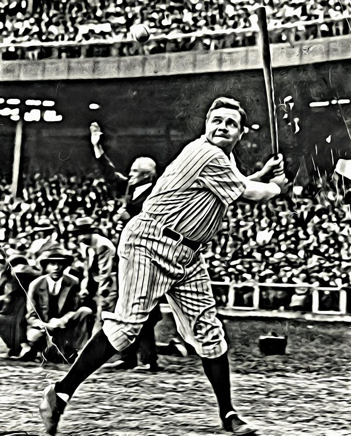 Mlb Painting - Babe Ruth Painting by Florian Rodarte