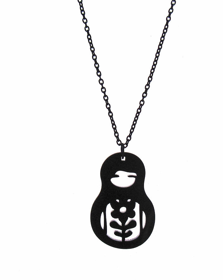 Babushka Pendant Necklace Jewelry
