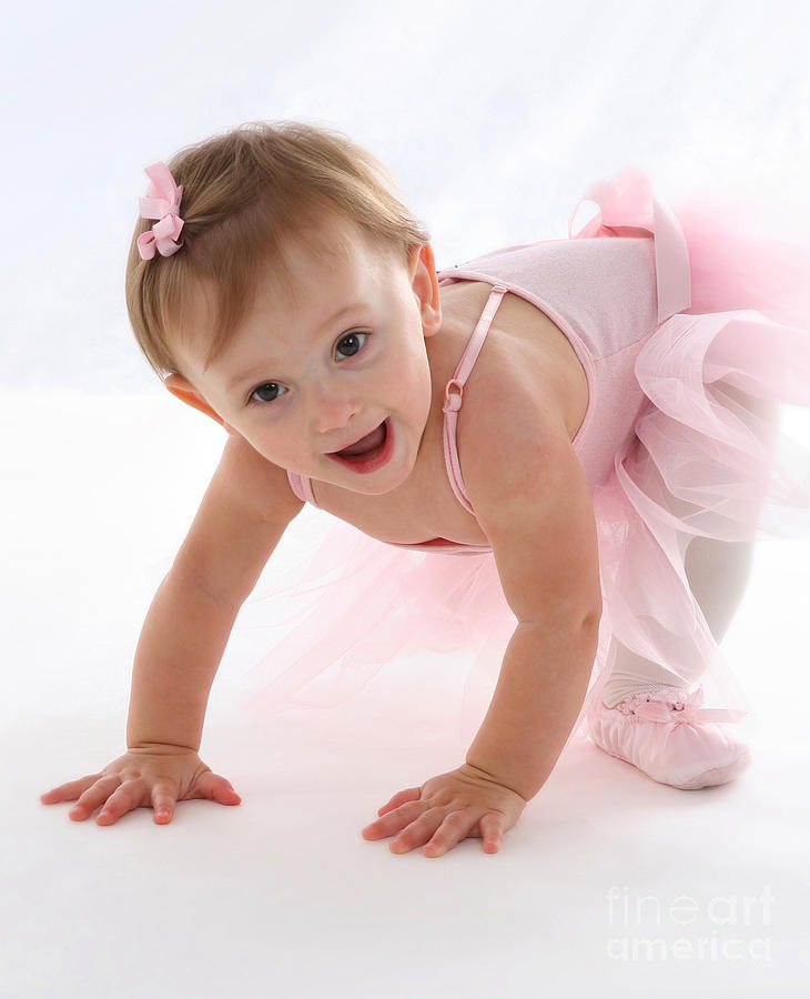 Adorable Photograph - Baby Ballerina by Suzi Nelson