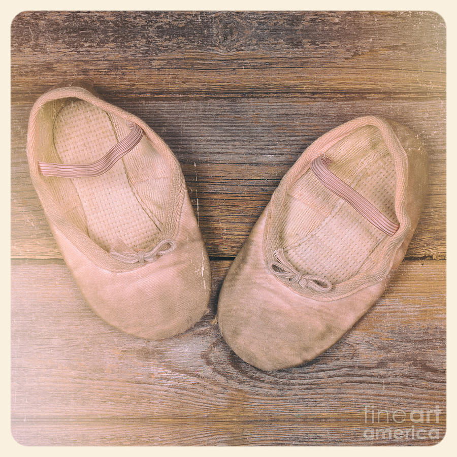Baby Ballet Shoes Instant Photo Photograph
