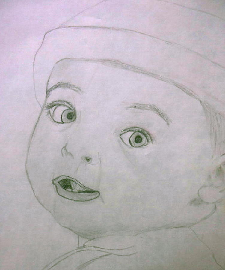 Baby Boy Drawing by G Marie