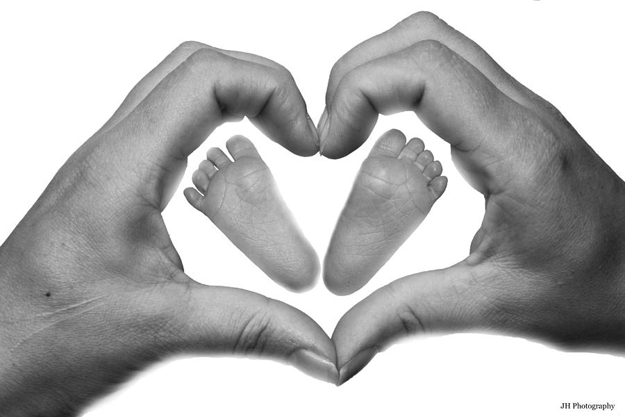 Baby Feet In Mothers Hand Photograph  - Baby Feet In Mothers Hand Fine Art Print