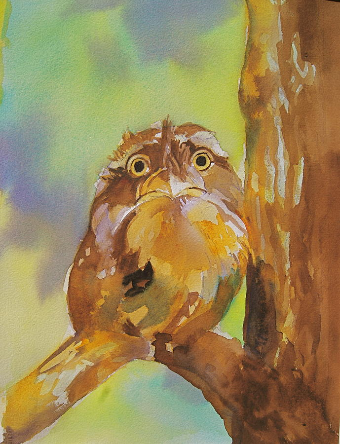 Baby Painting - Baby Owl by Reveille Kennedy