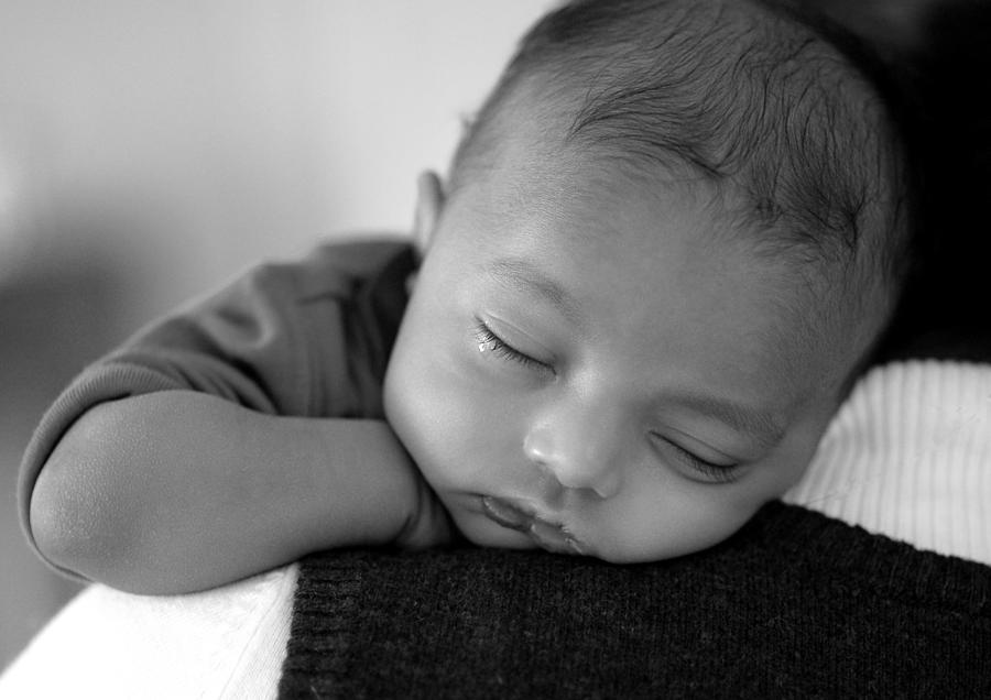 Baby Sleeps Photograph - Baby Sleeps by Lisa Phillips
