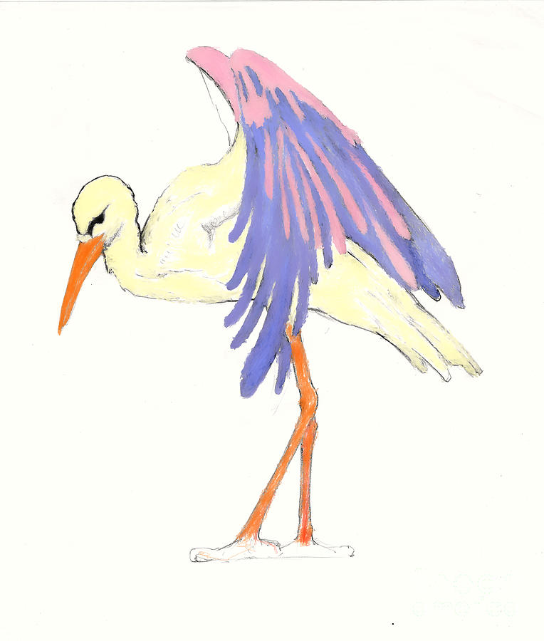 Baby Stork Drawing