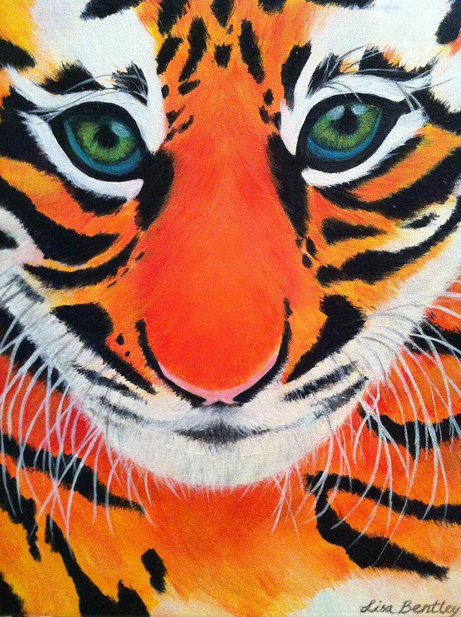 Animal Painting - Baby Tiger by Lisa Bentley