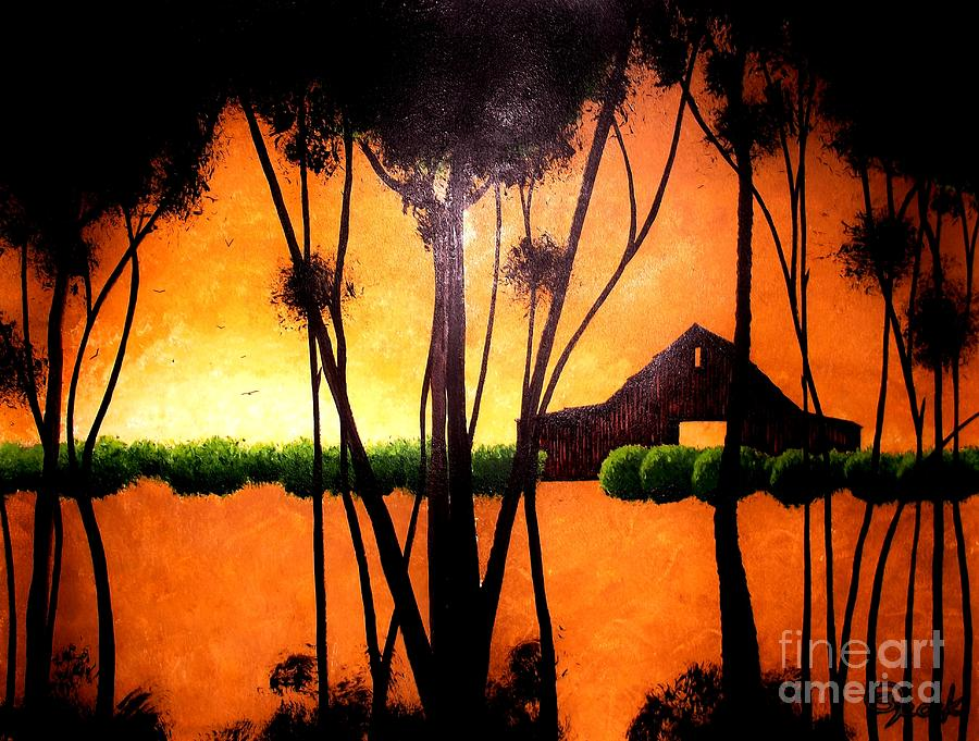 Back At The Barn Painting  - Back At The Barn Fine Art Print
