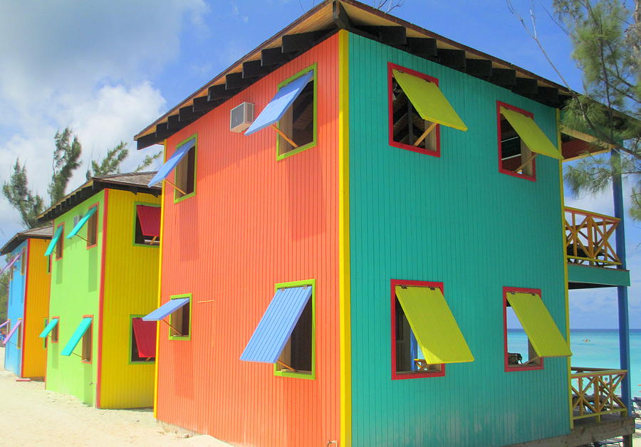 Caribbean Corner Photograph - Back Of Cabins 1 by Randall Weidner