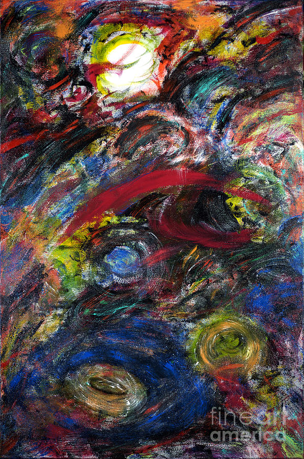 Back To Black - Galaxy Storm Painting  - Back To Black - Galaxy Storm Fine Art Print