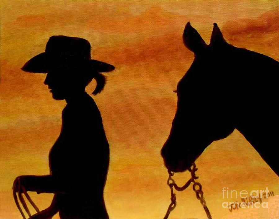 Sunset Painting - Back To The Barn by Julie Brugh Riffey