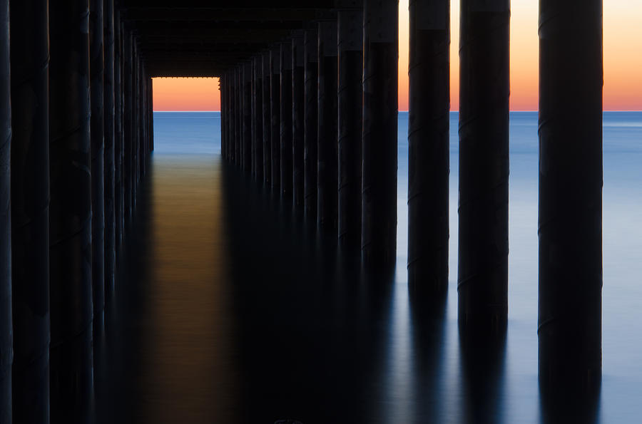 Marthas Vineyard Photograph - Back Under The Pier by Steve Myrick