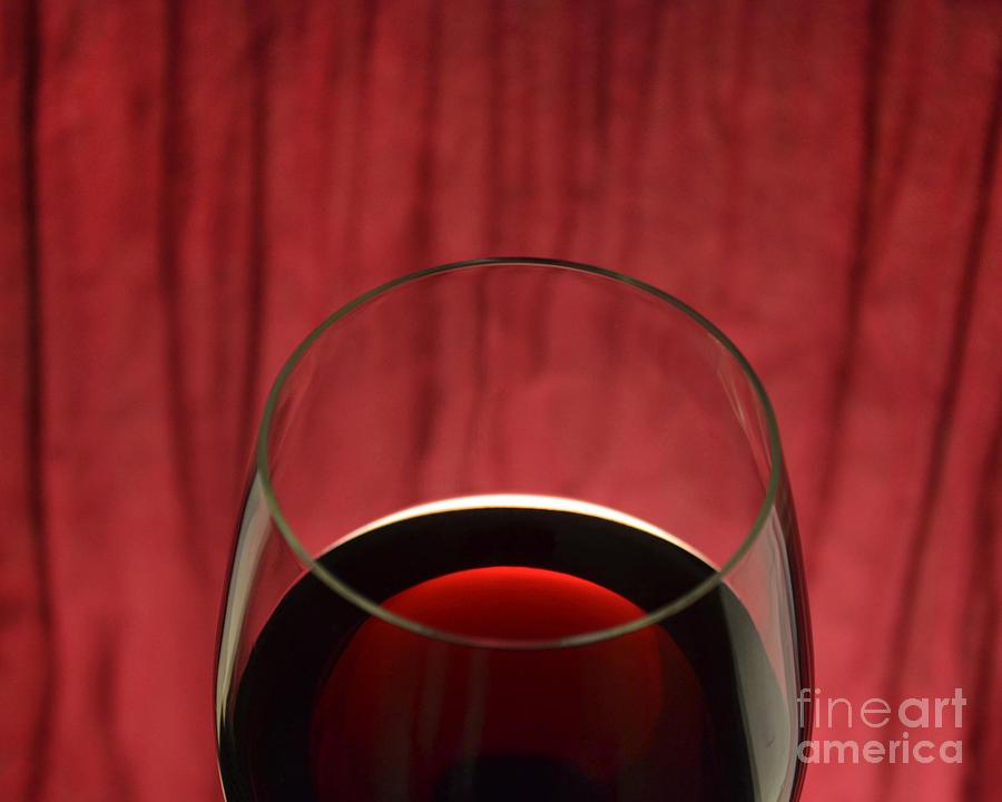 Red Wine Photograph - Backlit Room by John Debar
