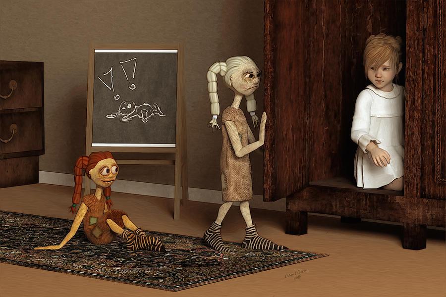 Bad Dolls Digital Art