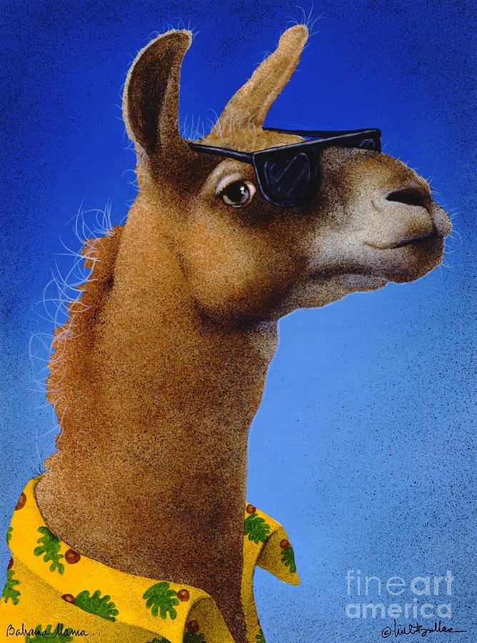 Will Bullas Painting - Bahama Llama... by Will Bullas