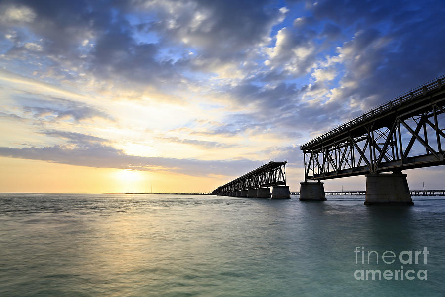 Bahia Honda Old Bridge Photograph  - Bahia Honda Old Bridge Fine Art Print