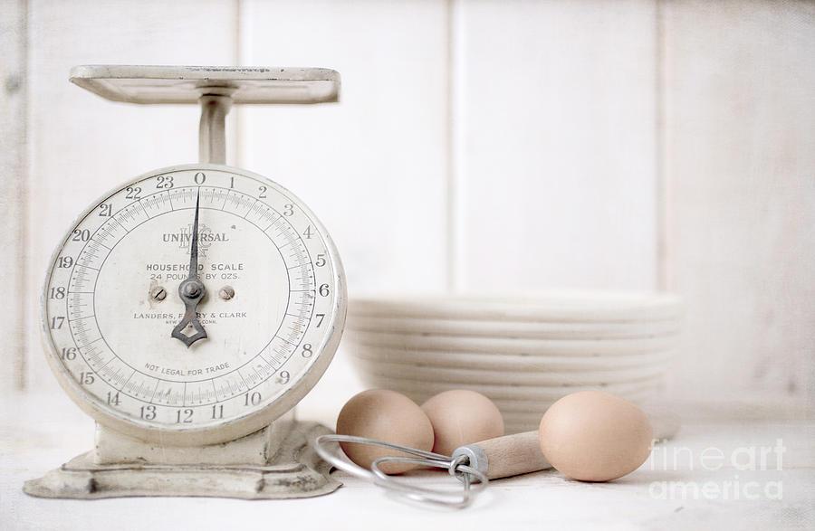 Baking Time Vintage Kitchen Scale Photograph