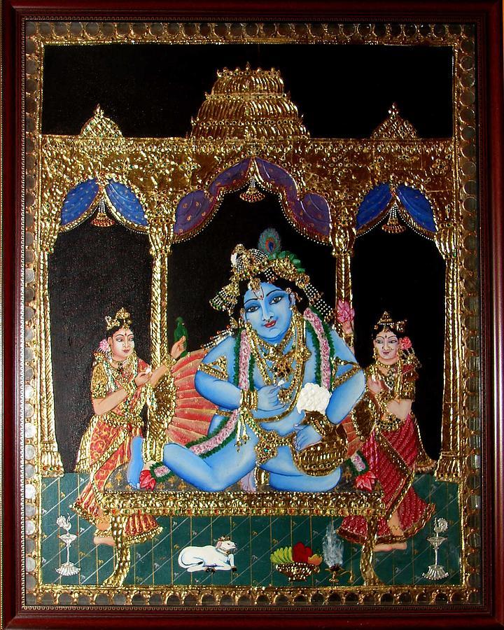 Tanjore Painting - Balakrishna by Jayashree