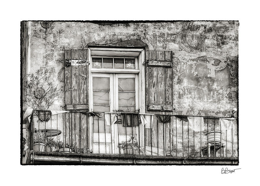 Balcony View In Black And White Photograph  - Balcony View In Black And White Fine Art Print