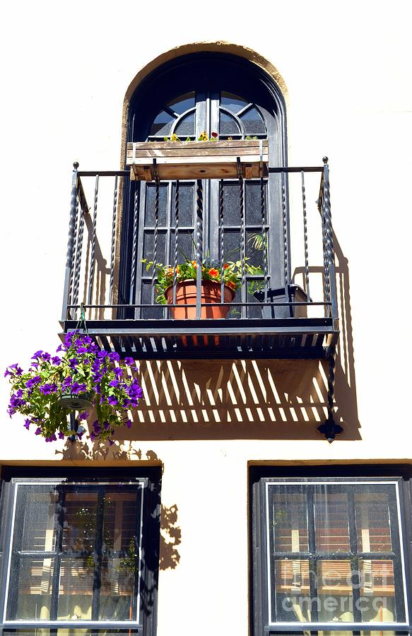 Balcony With Flower Photograph