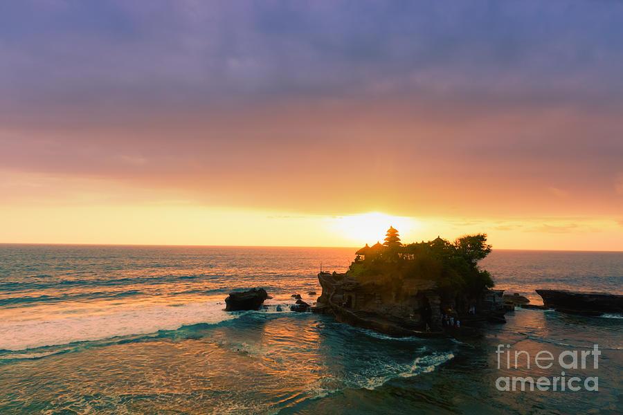 Bali  Photograph - Bali Tanah Lot Temple At Sunset by Fototrav Print