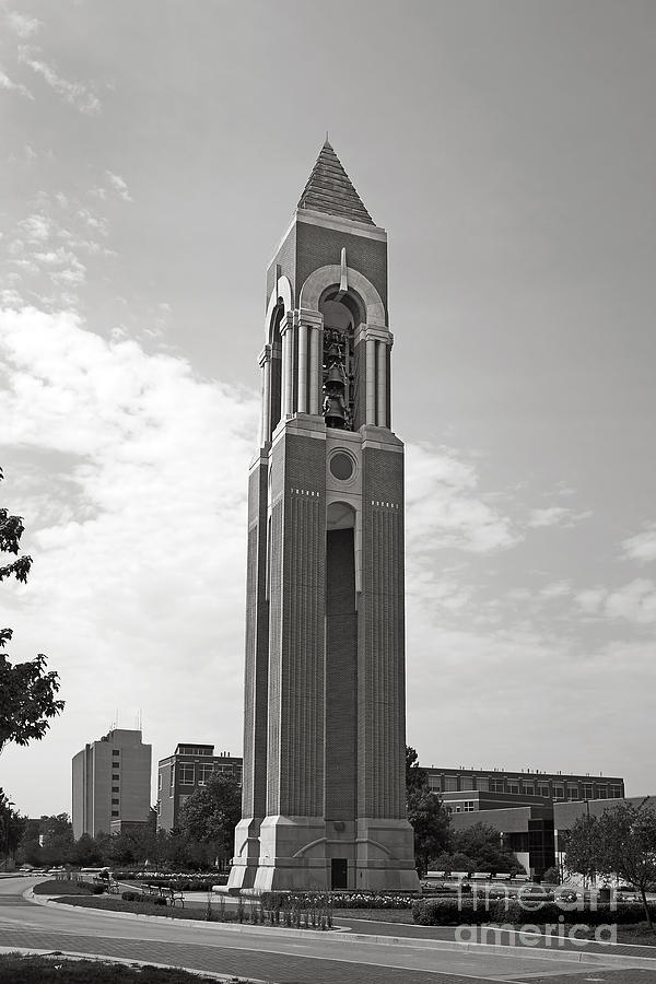 Ball State University Shafer Tower Photograph  - Ball State University Shafer Tower Fine Art Print