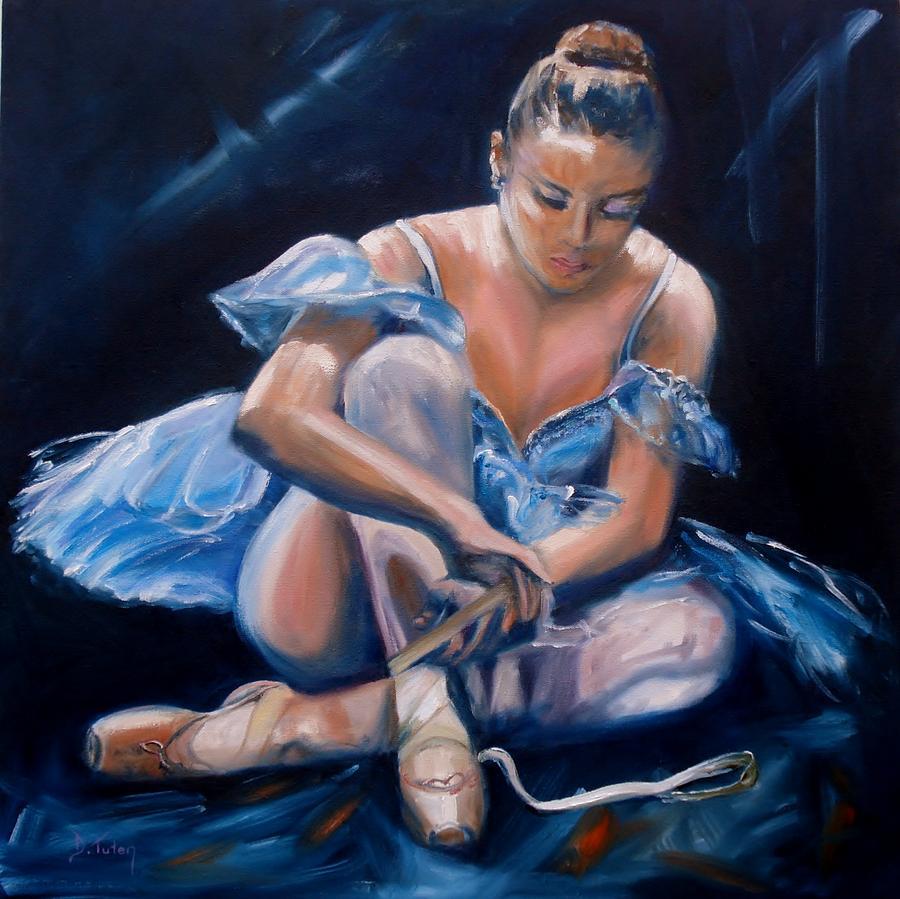 Female Painting - Ballerina II by Donna Tuten