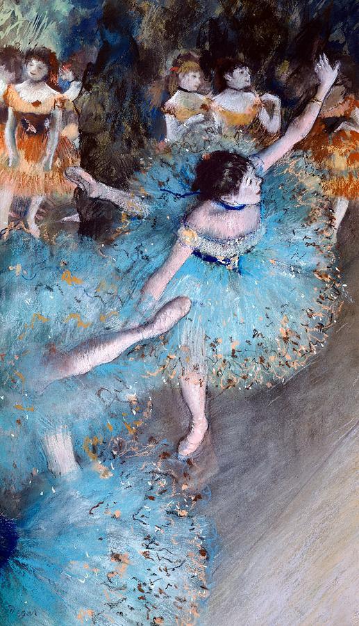 Art Painting - Ballerina On Pointe  by Edgar Degas