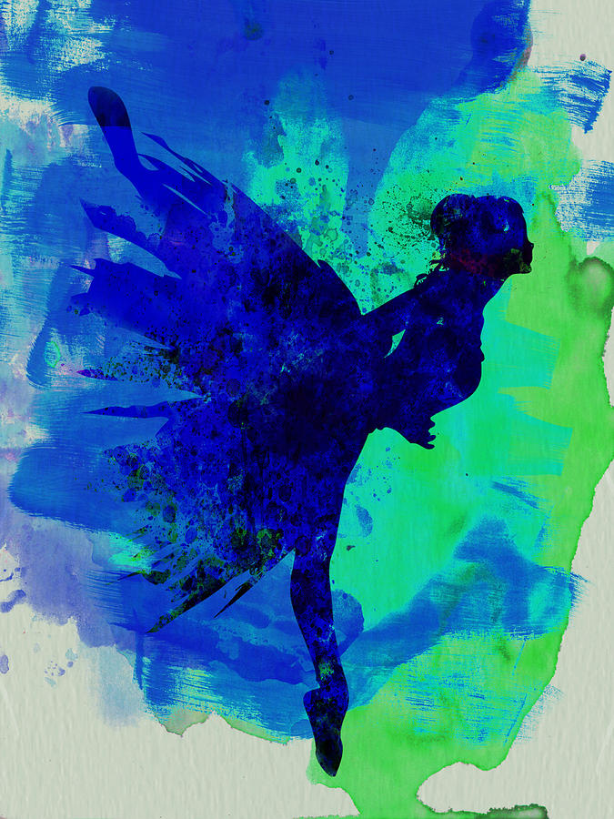Ballerina On Stage Watercolor 2 Painting