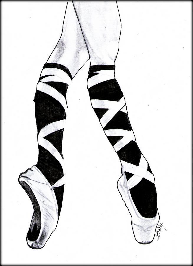 Sexy Painting - Ballerina by Saki Art