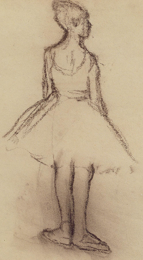 Ballerina Viewed From The Back Drawing By Edgar Degas
