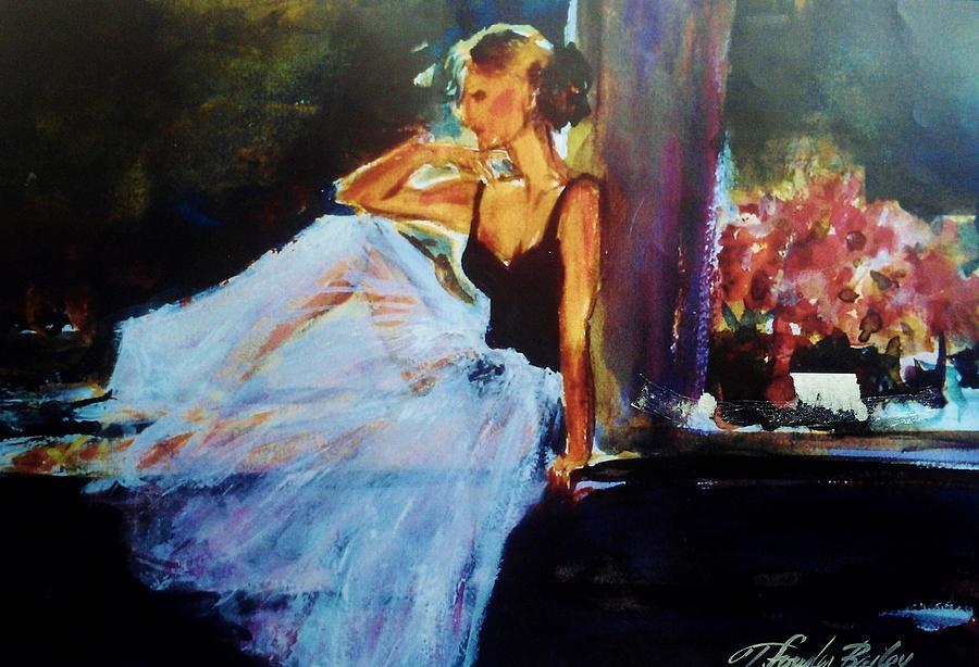 Ballet Dancer In Window Painting